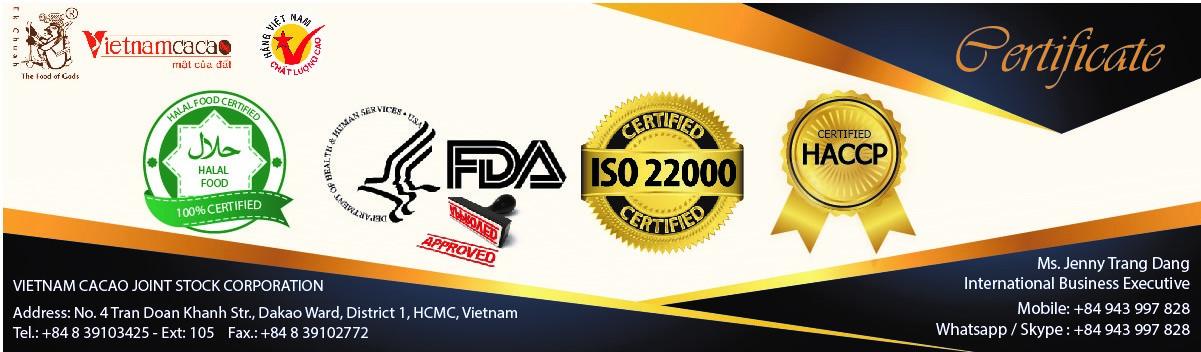 Chứng nhận chất lượng Vietnamcacao