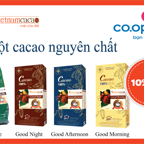 bot cacao nguyen chat giam gia 10%