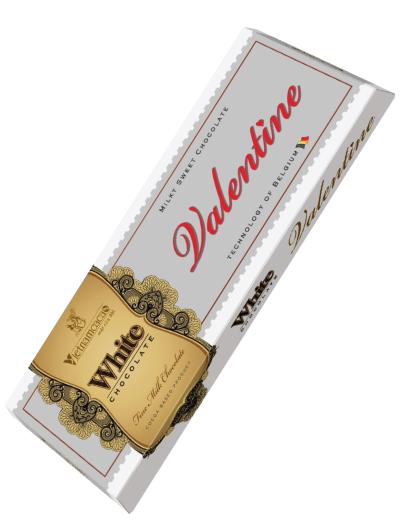 valentine chocolate white